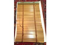 Hilarys Wooden Venetian Blind with brown tapes-Still in Box 65cm wide 144cm drop