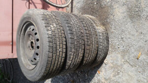 4 - All Season Tires P195 65 R15 Rims Honda tread 80%.