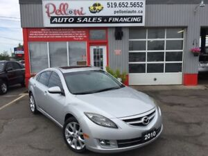 """2010 Mazda MAZDA6 GT LEATHER ROOF 18"""" ALLOYS NO ACCIDENTS"""