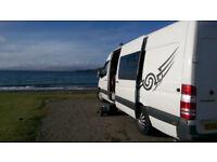 Mercedes Sprinter Motorhome/Camper with large garage/storage area