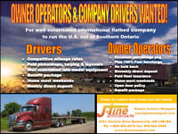 AZ Drivers & Owner Operators Wanted for US Flatbed
