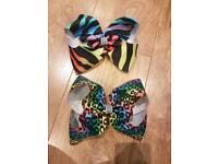 2 x Hair bows (jojo size)