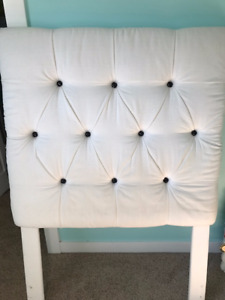 Cream single headboard