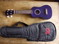 Ukulele Purple with soft case