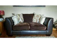 2 & 3 seater sofas with ottoman footstool