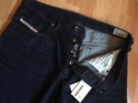 """NWT Men's DIESEL Buster Slim Tapered Jeans Size W33"""" L34"""" Wash0823K RRP £140.00"""