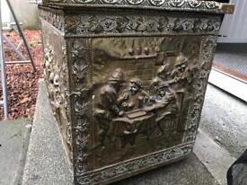 Vintage brass log/coal box