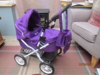 Silver Cross dolls pram. Suitable for 2-5 year old.