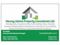 We are looking for cleaners Harvey Adams property consultant