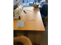 Large curved office desk