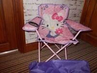 Hello Kitty Foldable Girls Chair With Holder