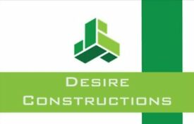 Desire Constructions Ltd - over 45 years experiance, we'll beat any quote, bathroom fitting, tiler
