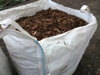 Forest bark chippings