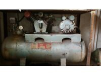 Air compressor single phase approx 150L reservoir