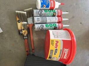 Painting tools and other supplies