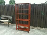 Ikea wooden shelving unit for garage 6 shelves