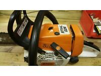 """stihl 026 16"""" bar chainsaw new piston fully stripped cleaned carb"""