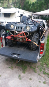 2001 Yamaha grizzly 600 with winch and plow