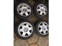 """16"""" VW Mk4 Golf Bora Sports Alloys 5x100 - Mint, Like new"""