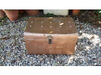 Reduced! Pre-war Tin Trunk
