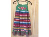 Summer multicoloured strap dress