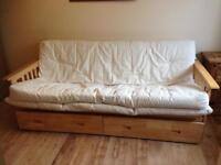 Sofabed Kyoto solid wood wooden