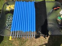 Complete safety net kit including poles, brand new, for 8Ft overall diameter trampoline.