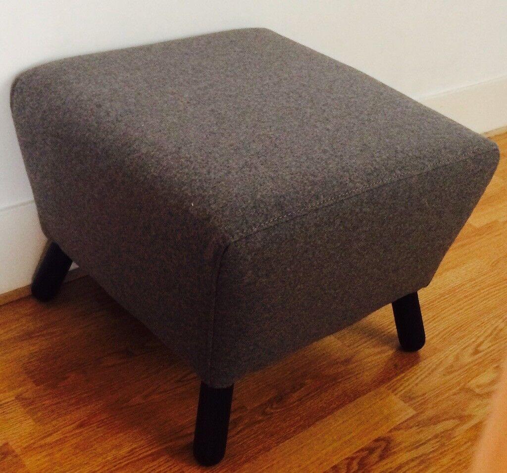 Brand New Grey Footstool - Made