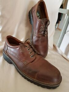 Men's brown leather shoes - size 13
