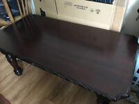 Large Heavy mahogany coffee table