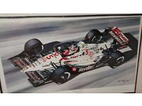 "Nigel Mansell ""record breaking rookie"" limited edition print"