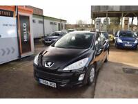Peugeot 308 2010 model 1.6 HDI ( 110bhp ) 5sp Manual Diesel Black