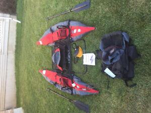 Arrow backpack inflatable pontoon boat