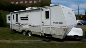 Outback travel trailer with bunks