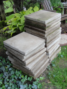 Cement Patio Pavers - Lot of Twenty-eight - 18 inch x 18 inch