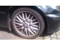 "bmw e46 3 series mv1 18"" genuine alloy 8J"