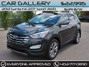 2013 Hyundai Santa Fe 2.0T Sport AWD w/Leather, Sunroof, Backup