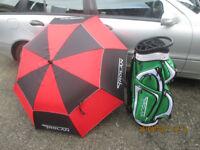 Trolan 14 way cart golf bag and umbrella