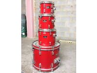 Pearl Export Drum Kit (Shells only) - Red- Great Intermediate Kit!