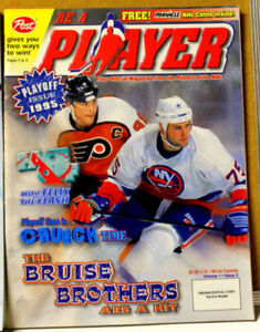 BE A PLAYER magazine - PLAYOFF ISSUE 1995 - ERIC & BRETT LINDROS