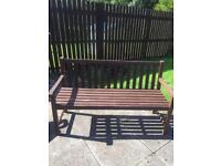 Wooden bench for sale and free 2 habitat wicker chairs