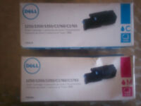 dell ink cartridges x2