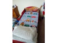 Disney cars toddler junior bed plus mattress and bedding