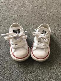 Infant size 3 converse leather trainers