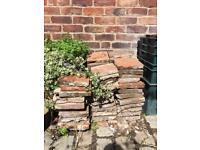 Victorian reclaimed square terracotta tiles
