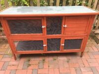 Outdoor Double Rabbit/Guinea Pig Hutch/Cage