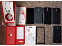 OnePlus 3 Bundle - Great Condition, dbrand Skin, 6 Cases + Screen Protector