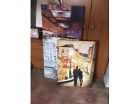 3x beautiful wall art canvases