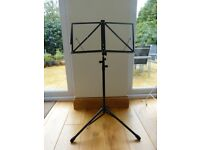 Folding music stands with bag-black