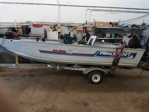 14ft aluminum boat princecraft pro series